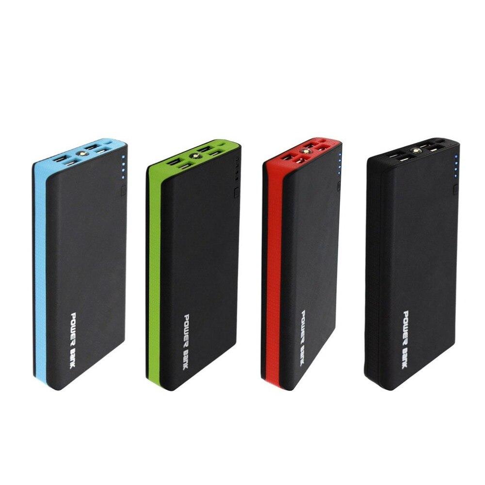 Güç bankası 20000 mah cep telefonu powerbank 18650 pil şarj iphone tablet PC için harici bankası yedek güç kaynağı