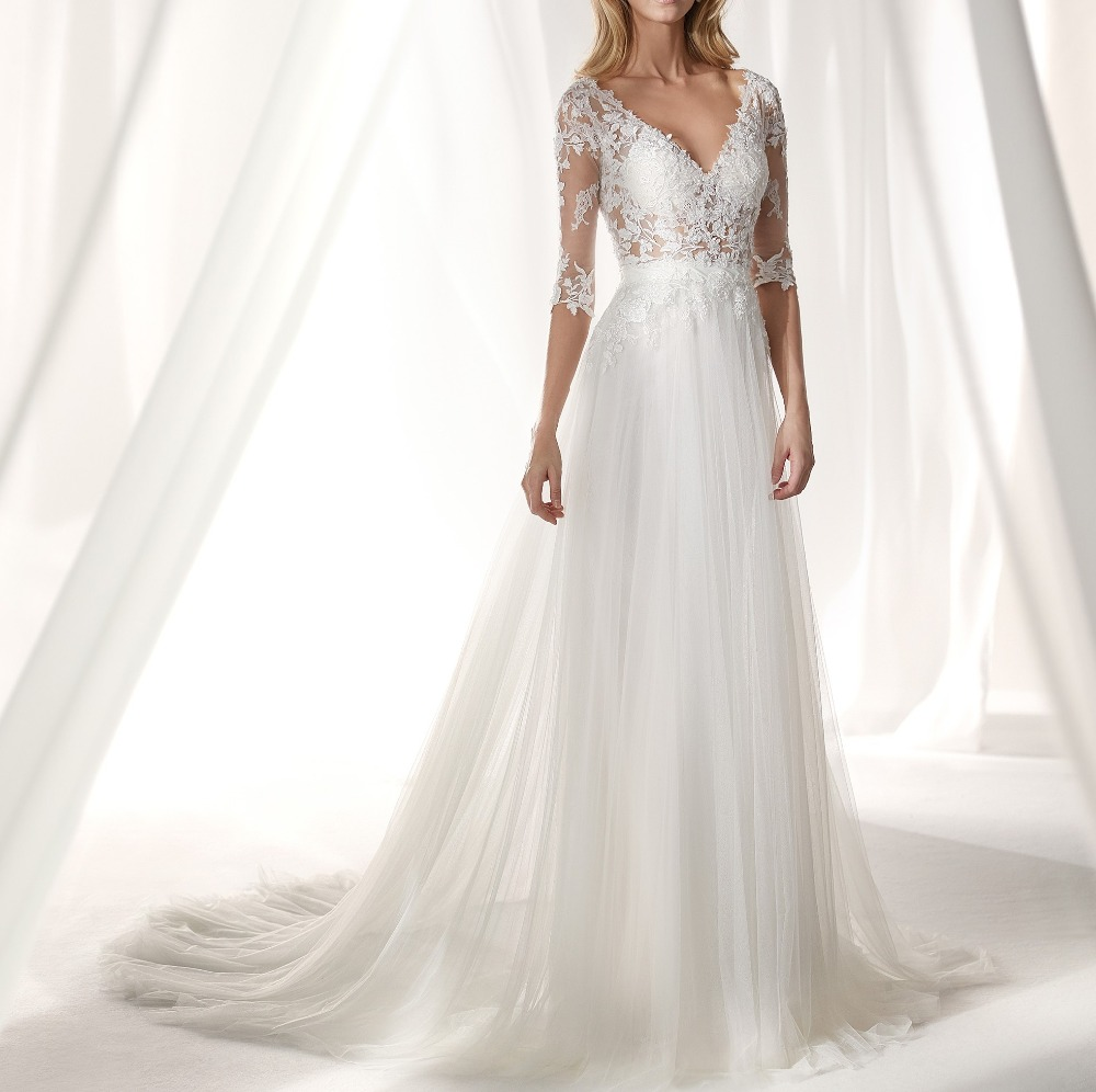 d1f5f8df7 Sexy See Through Bodice Mermaid Lace Wedding Dresses with Detachable Tulle  Skirt 2 in 1 Wedding
