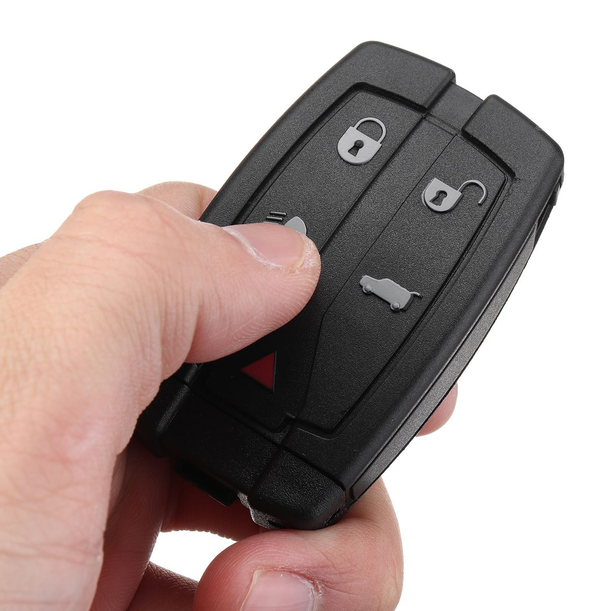 1Pc 2Pcs ABS 5 Buttons Remote Key Fob Shell Case w/ Blade For Land Rover Freelander 2 Lock Unlock Low Beam Trunk Panic