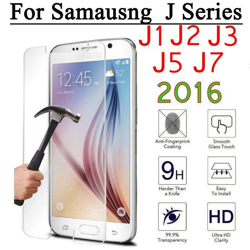9H phone glass For Samsung Galaxy J1 Ace mini Neo Duos J2 J3 J5 J7 2016 j100 j500 j710f Screen Protector Film for samsung glas
