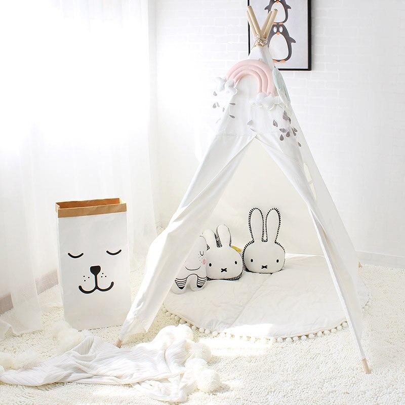 Детская тканевая палатка в виде вигвама для детской комнаты, детский игровой домик для мальчиков и девочек, индийская вигвама для улицы, кемпинга, пляжа, помещения Tipi|tent garden|tent sizetent welder | АлиЭкспресс - Для вечеров с детьми