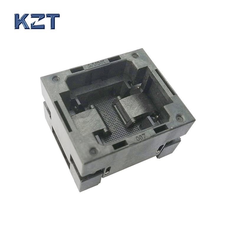 BGA56 OPEN TOP Burn in socket pitch 0.8mm IC size 8*11.6mm BGA56(8*11.6)-0.8-TP02/50N BGA56 VFBGA56 burn in programmer socket bga81 open top burn in socket pitch 1 0mm ic size 14 18mm bga81 14 18 1 0 tp02 50n bga81 vfbga81 burn in programmer socket