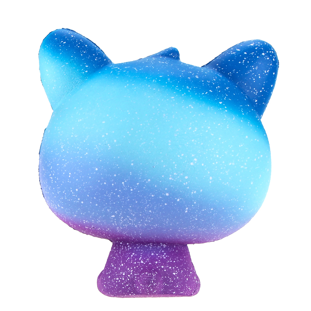 Jumbo Squishies Slow Rising Scented Ice Cream Cat Kawaii Squishy Stress Relief Toys Jumbo Decoration Squishy Fun Collection For Kids and Adult (Galaxy Blue) (4)