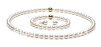 xiuli 00251 9-10mm white AAAA top rating pearl sets necklace&bracelet&earrings 14KGP