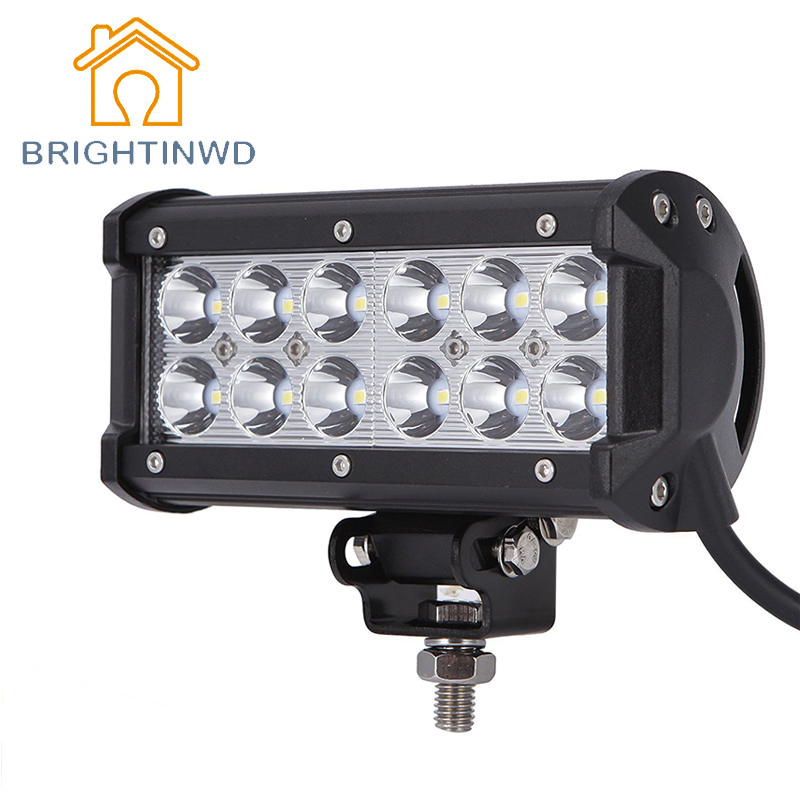 6000K IP67 Waterproof Car Lighting Spotlight 8-32V 36W Automobile LED Working Light SUV LED Spotlight Reversing Light BRIGHTINWD ...