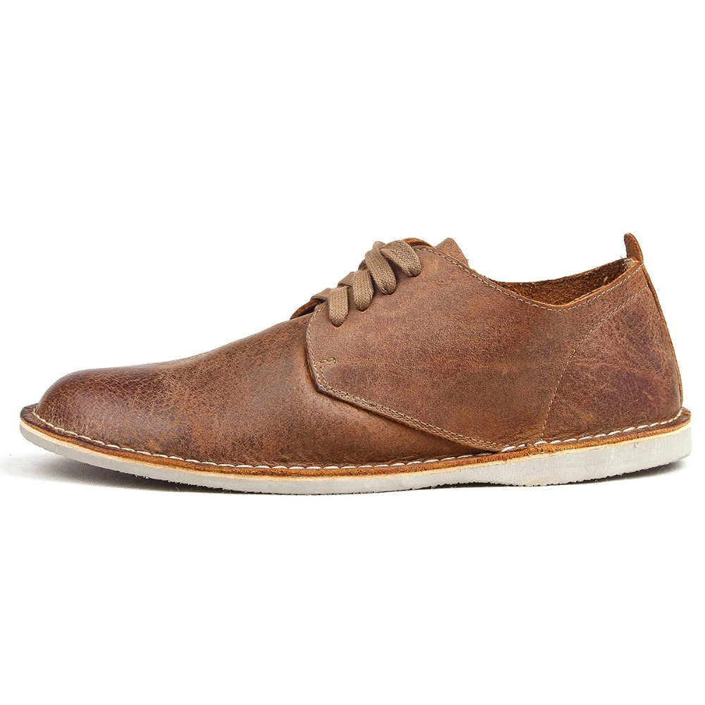 купить New High Quality Genuine Leather shoes Britain style fashion shoes retro men casual shoes tooling shoes low shoes male creepers дешево