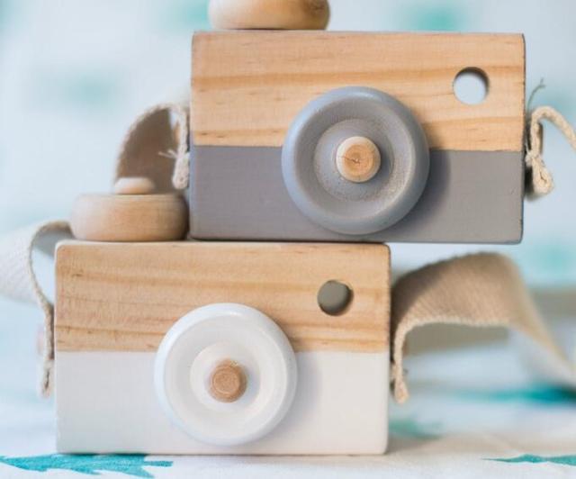 Decorazioni In Legno Per Bambini : Originale in legno mini macchina fotografica giocattoli creativo