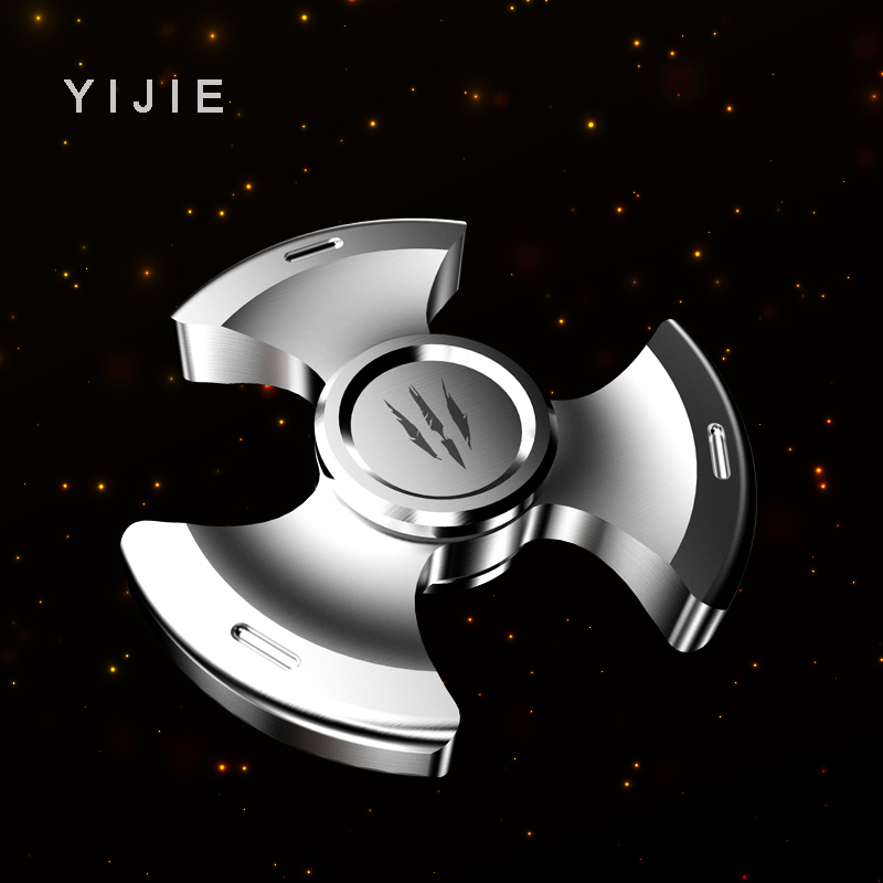 YIJIE Fidget Spinner hand Metal Fidget Spinner Anti Stress Puzzle Christmas  Gift Toys to Kids