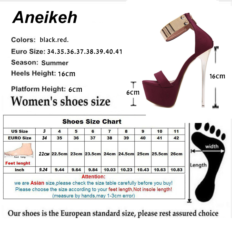 Aneikeh Ankle Strap Heels Platform Sandals Party Shoes For Women Wedding Pumps 16cm High Heels Sequined Aneikeh Ankle Strap Heels Platform Sandals Party Shoes For Women Wedding Pumps 16cm High Heels Sequined Gladiator Sandals Black