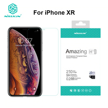 Para o protetor de tela do iphone xr 6.1 polegadas nillkin incrível h/h +/h + pro 9 h 2.5d vidro temperado protetor para o iphone xr vidro