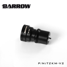Barrow TZKM-V2 black silver water cooling fittings sealing quick coupling Male connector