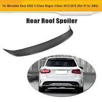 C class Carbon Fiber & FRP Rear Trunk Roof Spoiler Lip Wing for Mercedes Benz S205 Wagon Hatchblack Only 4 Door 2015 2018|Spoilers & Wings| |  -