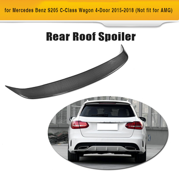 C-class Carbon Fiber & FRP Rear Trunk Roof Spoiler Lip Wing for Mercedes Benz S205 Wagon Hatchblack Only 4-Door 2015-2018