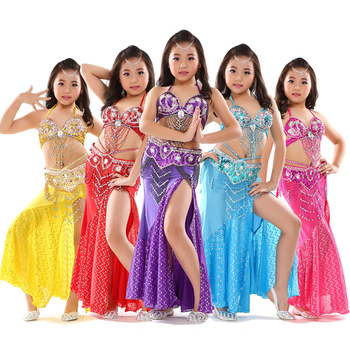 2018 Belly Dance Costumes Girls Kids Oriental Dance Costume Sexy Indian Dress Children Bollywood Clothes Performance Wear DN1617