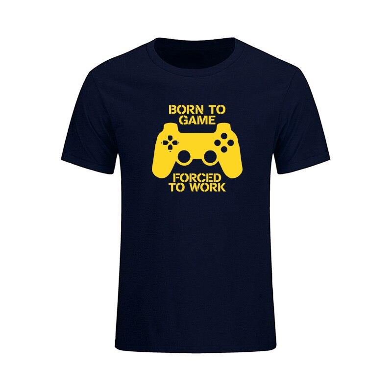 태어난 게임 편지 T 셔츠 남성 여름 패션 캐주얼 반소매 T 셔츠 재미 있은 게이머 Tees 탑스 Camiseta