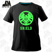 Agents of S.H.I.E.L.D. Shield SHIRT Joss Whedon NEW Avengers t shirt glow in the dark luninous tops
