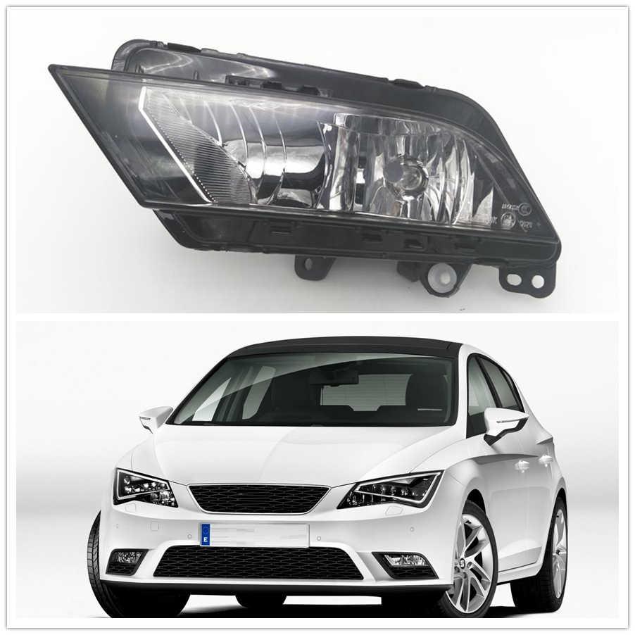 Sisi kiri Cahaya Untuk Kursi Leon 2013 2014 2015 2016 2017 Mobil-styling Bumper Depan Halogen Kabut Cahaya Fog Lamp Driver sisi