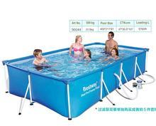 211 Bestway 400*56405*80 см большой квадратный металлический каркас семейный бассейн/ультрапрочный складной брезент поддержка квадратный бассейн