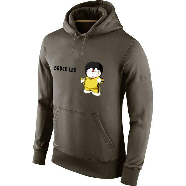 Animados Personalizada 26 € Sudaderas Verde hanmeinen Poliéster Hombres Lee 16 100 Imagen Bruce Dibujos Divertido De Doraemon Cualquier