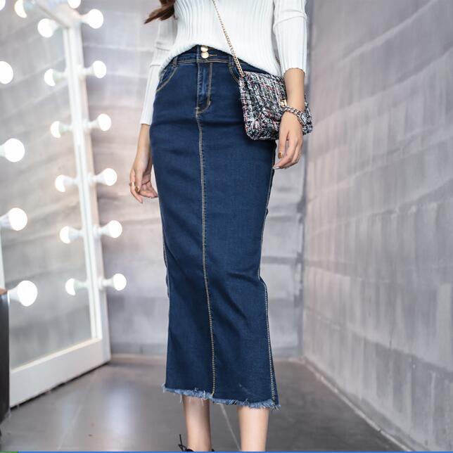 Popular Denim Split Skirt-Buy Cheap Denim Split Skirt lots from ...