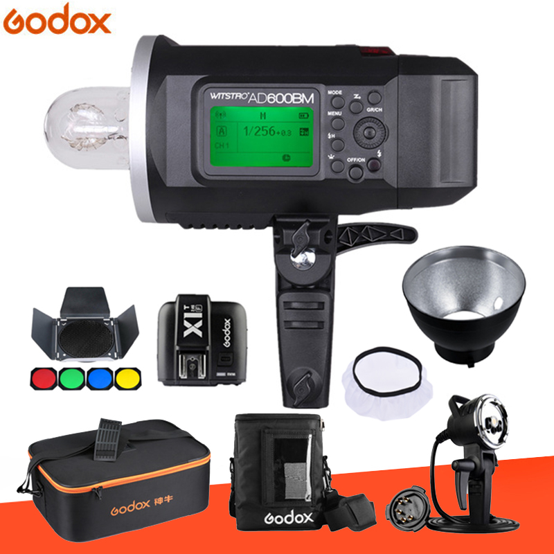 Godox Wistro AD600 AD600BM Manual Version Bowens Mount GN87 HSS 1/8000S 2.4G X System All-In-One Outdoor Strobe Flash Light godox ad600bm 600w hss gn87 bowens mount flash light or ad600bm x1t c transmitter trigger for canon