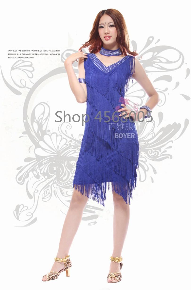 b0b76b2a05564 ... 2017 Vintage Bling Fashion V Neck 1920s Sequin Fringe Charleston Flapper  Great Gatsby Stage Dance Clothing ...