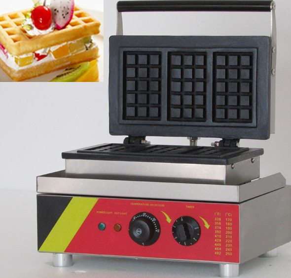 Electric rectangle Waffle maker commercial in waffle makers high tech electric shell plastic moulded makers in china