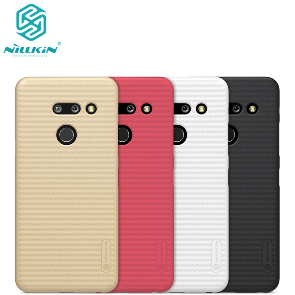 10pcs lot wholesale Nillkin Super Frosted Shield Case For LG G8 ThinQ PC Hard Back Cover