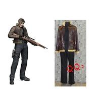 2016 Resident Evil Leon Scott Kennedy Cosplay Kostüm Cadılar Bayramı Kostümleri