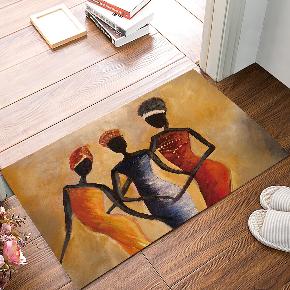 Africa Women Door Mats Kitchen Floor Bath Entrance Rug Mat Absorbent Indoor Bathroom Decor Doormats