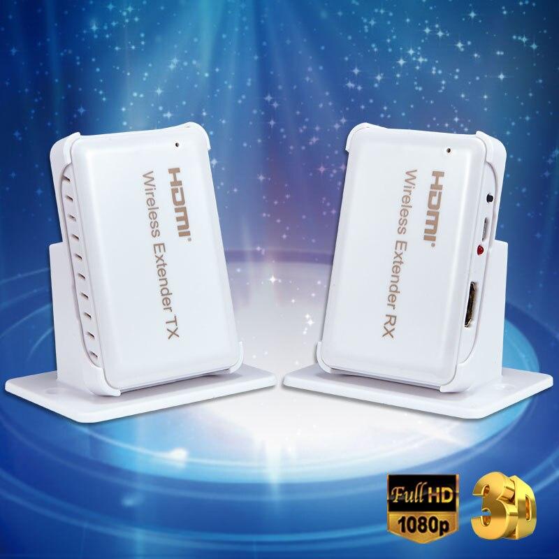 Nouveau HDMI sans fil Extender transmettre jusqu'à 30M prise en charge HDMI 1.4 HDCP 1.4 3D 1080P Compatible avec les appareils HDMI HDTV