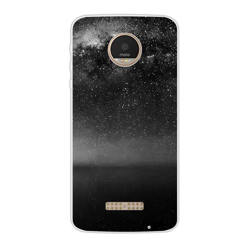 Etui na telefony komórkowe Motorola Moto Z Play Force Droid 2016 Vertex Moto X 4 XT 1635-03 XT1635 Mo wzór tygrysa osłona tarczy Capa