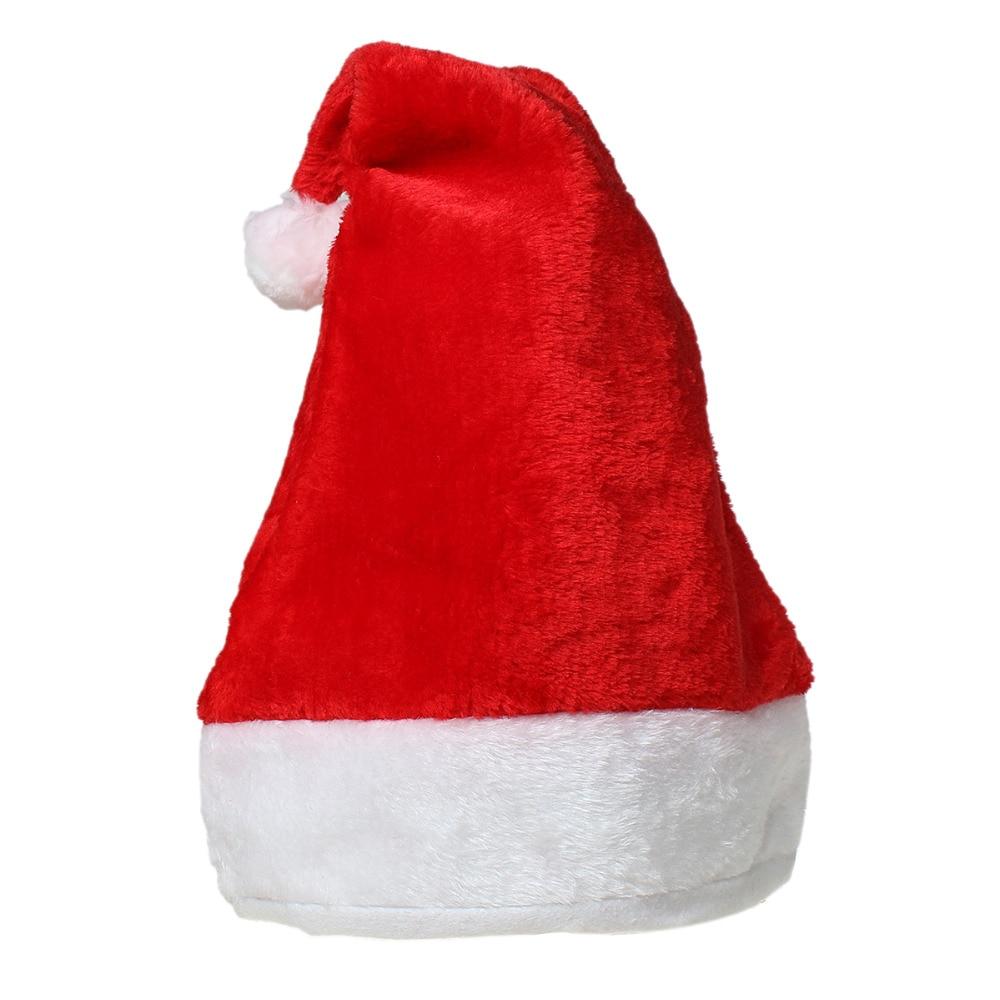 "Velveteen Party Christmas Decorations Santa Hat White & Red 44cm(17 <font><b>3</b></font>/<font><b>8</b></font>"") <font><b>x</b></font> 29cm(<font><b>11</b></font> <font><b>3</b></font>/<font><b>8</b></font>"") , <font><b>1</b></font> Piece"