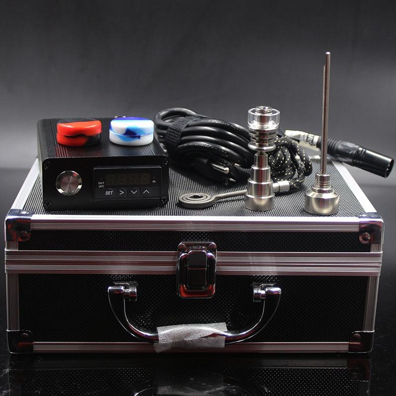 Kit de clou portatif E dab D clou électrique dab quartz banger titane dôme moins clou 10mm felmale mâle PID contrôleur boîte enail kit