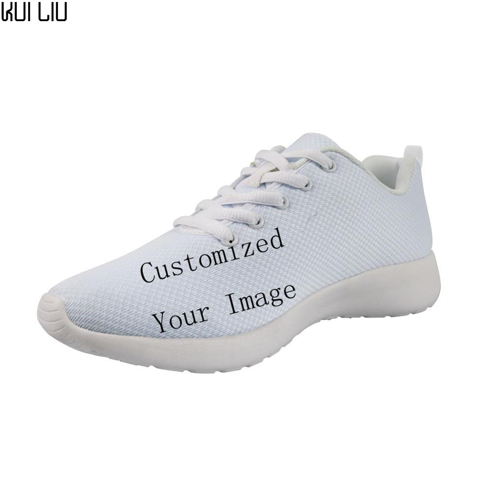 Customized Image LOGO Print Sneakers Men Casual Shoes Spring White Bottom Comfortable Male Breathable Male Casual Walking Shoes