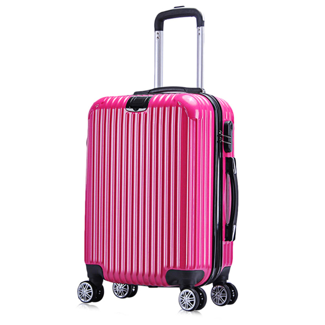 Suitcases 20 Inch Hardside Luggage mala de viagem Suitcase for Girls Solid Color Striped Spinner Luggage Trolley Case suitcase