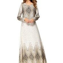 Цветочный принт турецкое женское исламское платье Абая одежда для женщин мусульманское платье халат для взрослых XXL