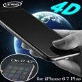 4D LEWEI 0.2mm Actualización 3D Borde Curvo de La Cubierta Completa de Vidrio Templado fría talla film protector de pantalla para iphone 6 6 s 7 plus