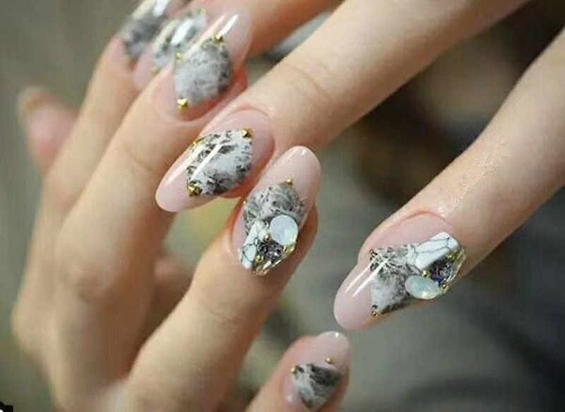 1 Sheet Snakeskin Leopard Nail Art Sticker Adhesive Marble Stone Nail  Designs Japanese Manciure for Nail Decorations Wholesale