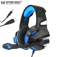 KOTION EACH G7500 Gaming Headphones Casque PC Gamer Stereo Game Headset With Mic LED Light For