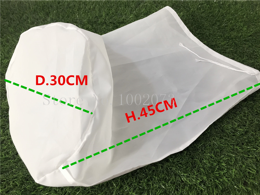 Free Shiping 3045cm Large food grade Nylon filter bag for home brew beer rice wine juice soybean milk tea Coffee Filter Bag (1)