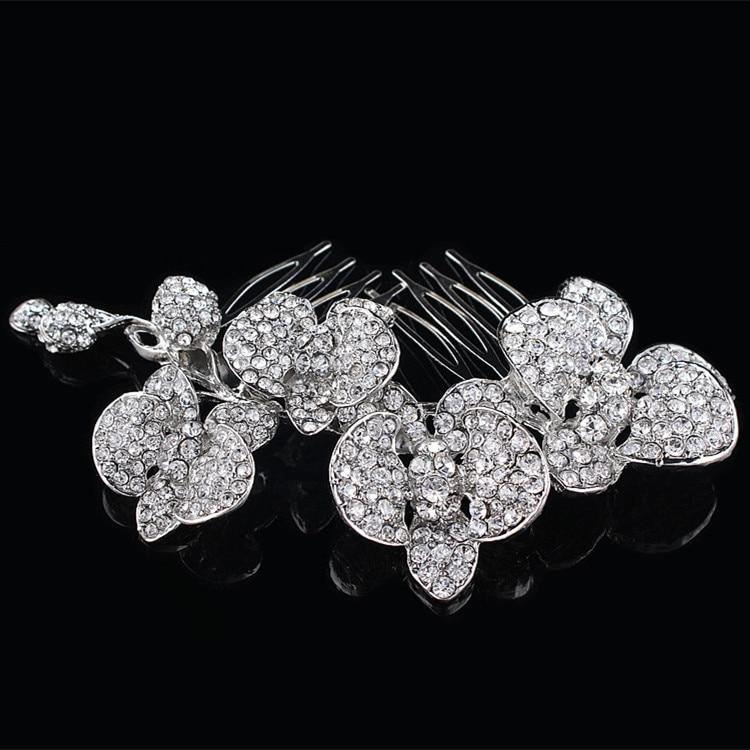 Modni poročni dodatki Charm avstrijski kristalni cvetlični list - Modni nakit - Fotografija 4