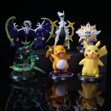 Big size X Y Hydreigon Entei Genesect Raichu pika anime action & toy figures Collection model toys pks movable base