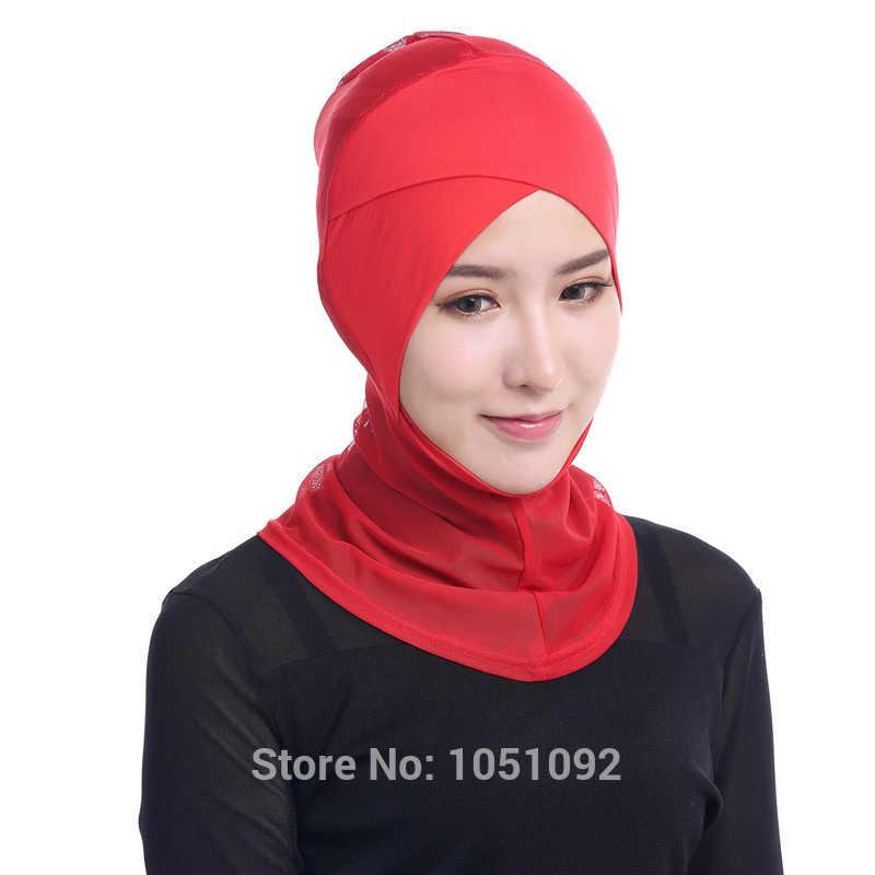 1 PC Muslim Inner Topi Syal Wanita Islam Topi Hijab Modal & Bersih Peregangan Elastis Disesuaikan Hot Sale 45 Cm * 32 Cm Memilih 12 Warna