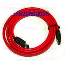 10pcs- 500pcs Sata to eSata Data Cable 1m Red With Shrapnel Outer Mobile Disk SATA Wire