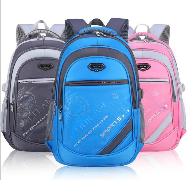 New leisure burdens nylon schoolbags waterproof children school bags Soft  strap firmly Children Backpack with Zipper d48ae81617731