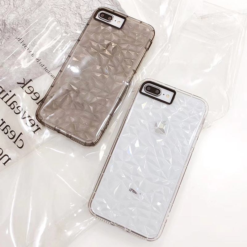 3D Diamond Pattern Phone Case For iPhone X Luxury Ultra Thin Soft TPU Cases For iPhone 7 8 6 6s Plus 5 5 S SE Shining Cover Capa (4)
