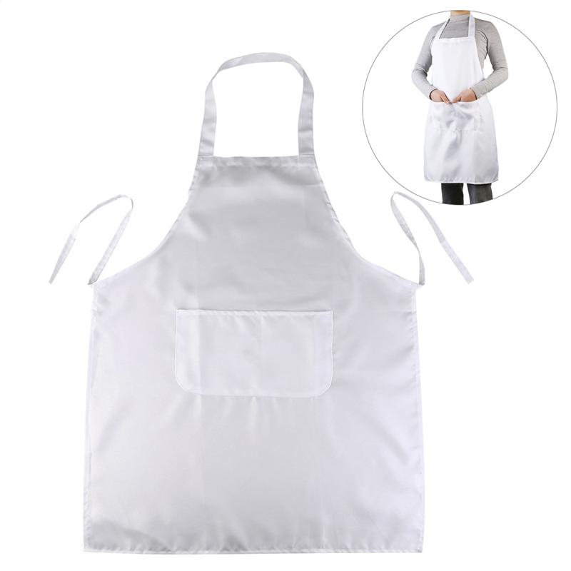 LUOEM White Lady Women Men Apron Cooking Apron Halter-neck Style Sleeveless Apron With Pocket For Cooking Baking Restaurant