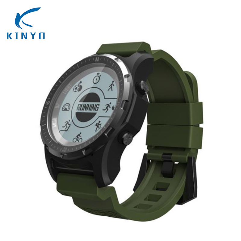 New S966 Smart Watch Men GPS Fitness Tracker Wristwatch Waterproof ip67 Compass S966 Smartwatch Sport Clock Heart Rate Monitor colmi v11 smart watch ip67 waterproof tempered glass activity fitness tracker heart rate monitor brim men women smartwatch