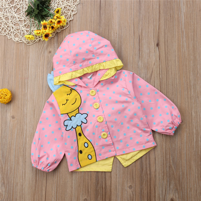 4cae02010737 Toddler Baby Girl Cartoon Giraffe Jacket Coat Outwear Kids Girls ...